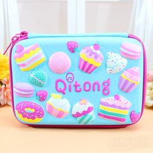 EVA Pencil Case 3D Heart-shaped Cake Stationery Box Children Students Zipper Large Capacity Portable Multi-function Storage