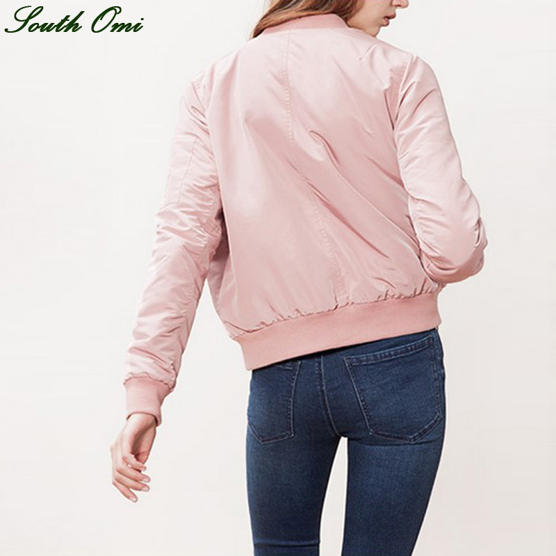 Aliexpress.com : Buy Casaco Bomber Jacket Women Pink/Army Green ...