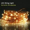 Alto Brillante Alambre de Cobre LED Cadena Luz de la Decoración de La Boda Iluminación Cuerdas 10 M A Prueba de agua Al Aire Libre Luces De Navidad
