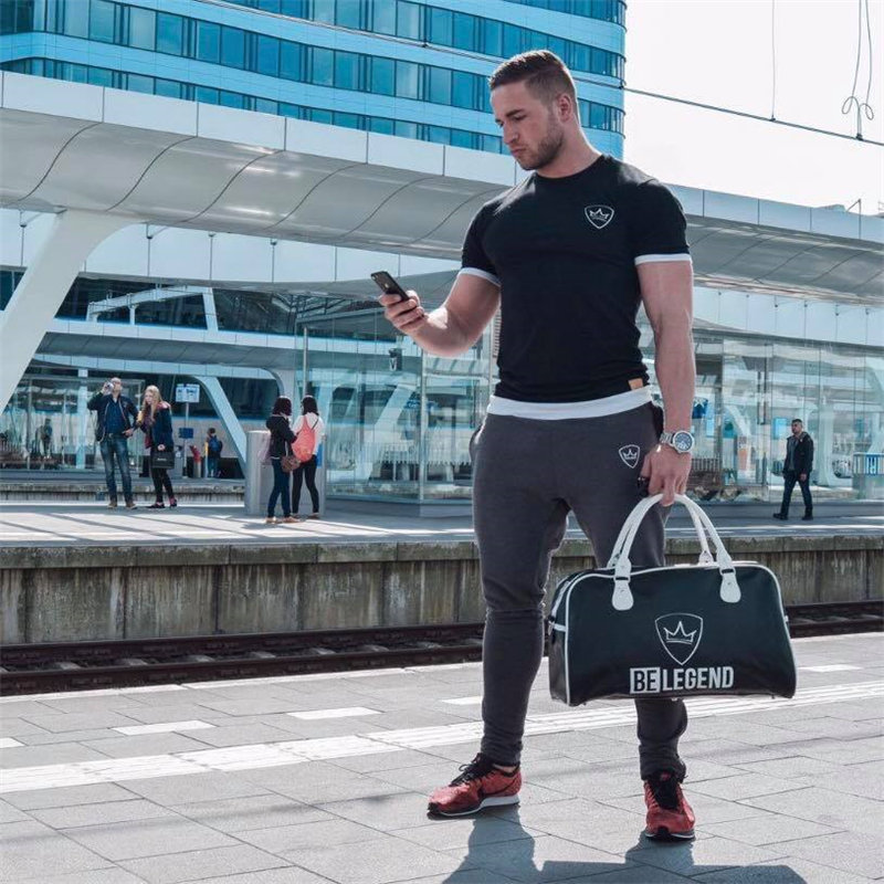 HTB1RLHaaQfb uJkSne1q6zE4XXaz 2019 new gym breathable men's muscle fitness short sleeve training bodybuilding fitness cotton sportswear T shirt clothes
