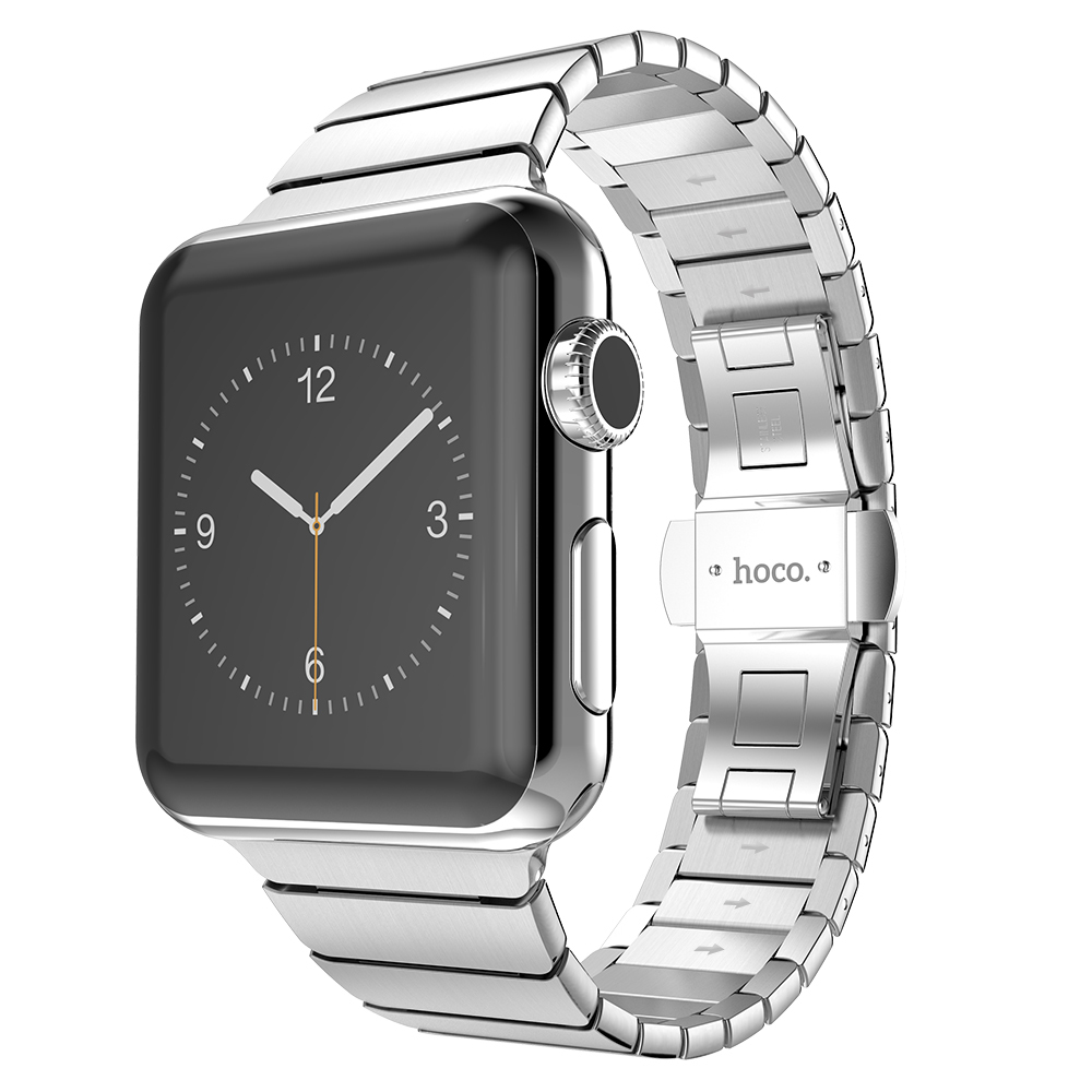 Top Quality Link Bracelet Strap For Apple Watch Series 3 2 1 42mm Black Silver Stainless Steel Watchbands Iwatch In From Watches On