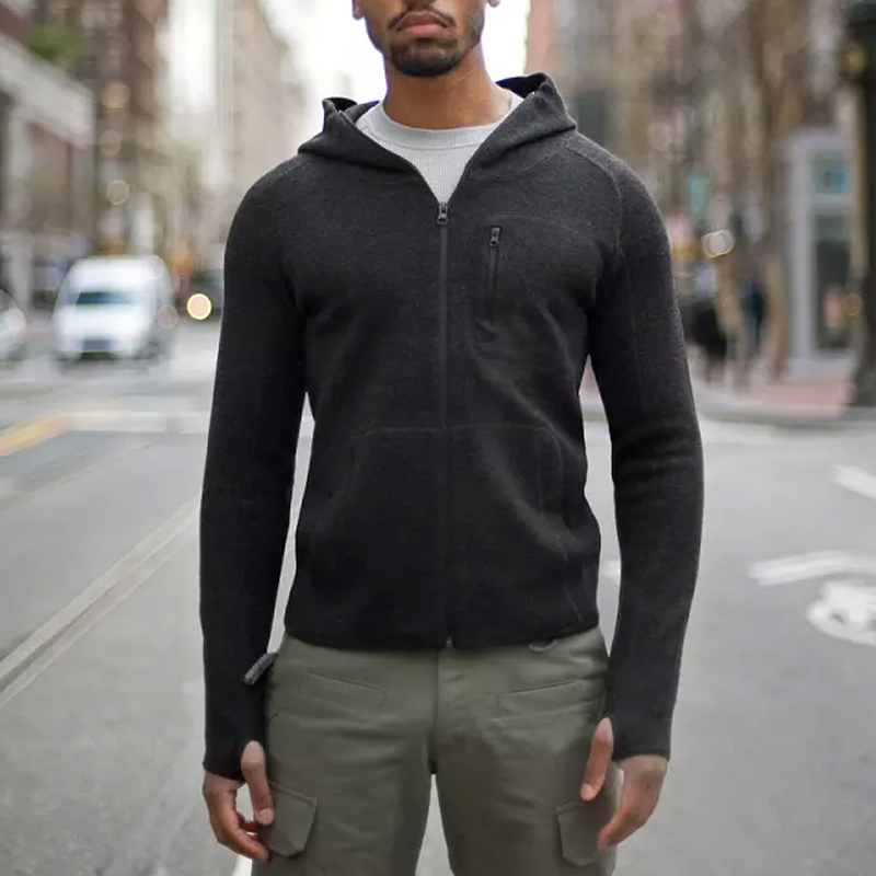 Iarna de iarnă Tactical Lână Hoody Sweat cămașă bărbați - Imbracaminte sport si accesorii