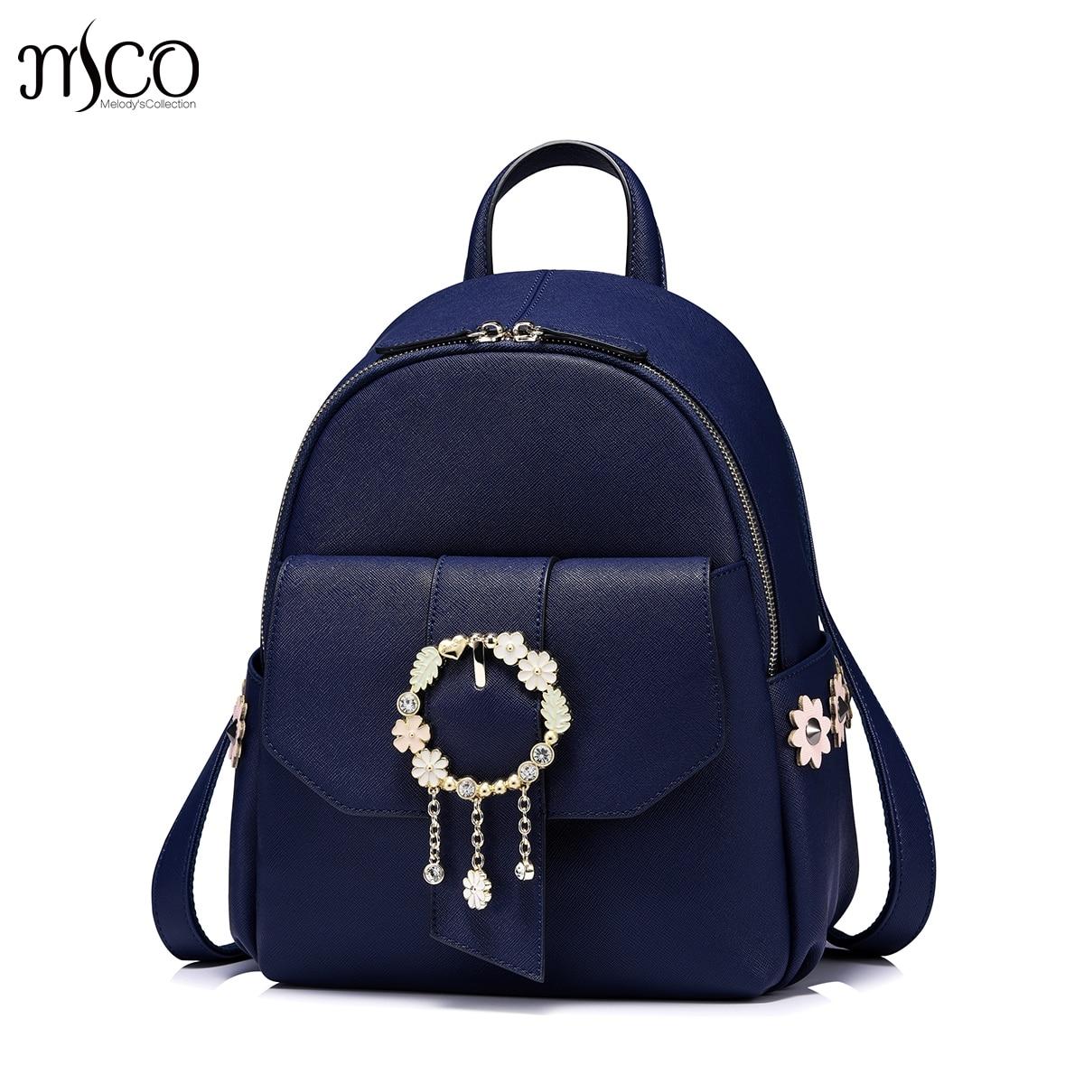 2017 marque Designer bijoux de luxe femmes sacs femme Kasper fleur sac à dos mochila pour filles sacs d'école sac à dos