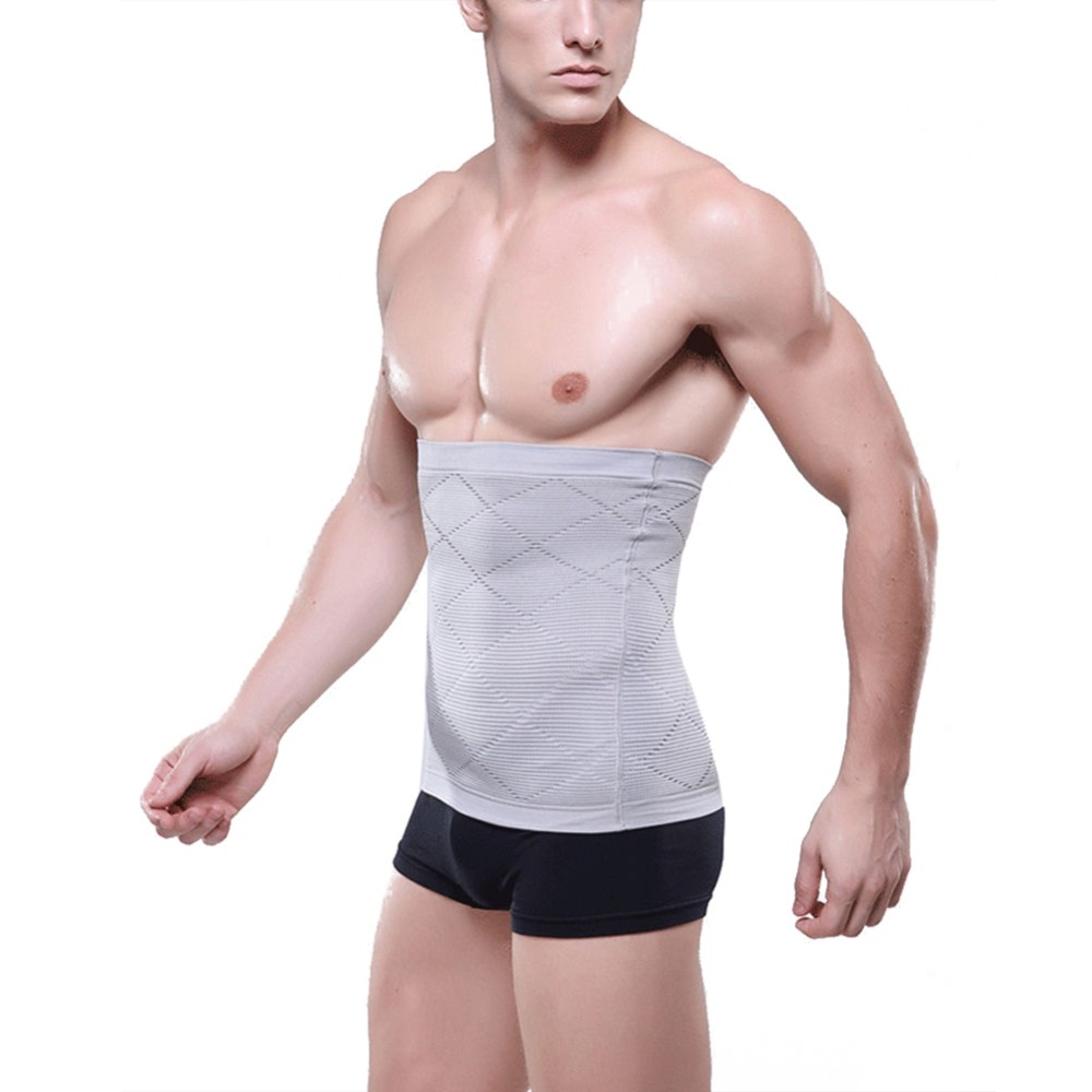 Men Underwear Slimming Belt Girdle Adjustable Body Waist Tummy Tuck Fat Bodysuit Masculino Shapewear Corset