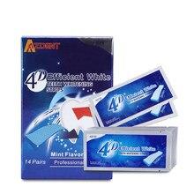 AZDENT Hot 14/28 pochettes 3D mis à jour 4D bandes de blanchiment des dents blanchiment des dents blanchiment Gel de blanchiment avancé whitestrip