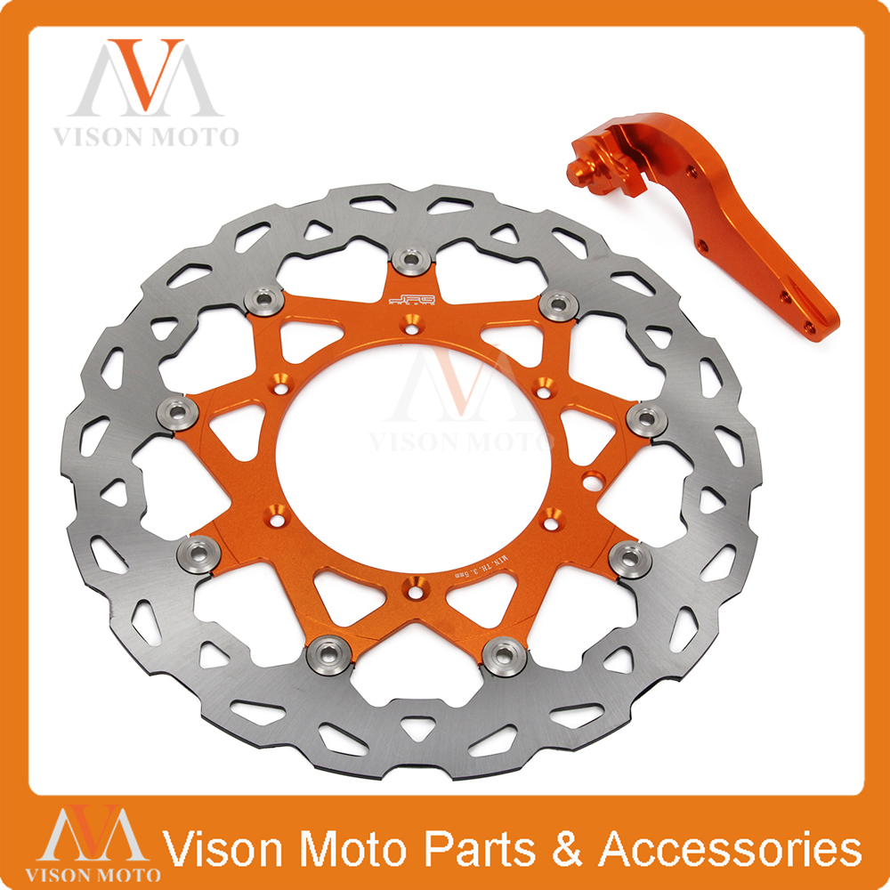 цена на 320MM Front Floating Brake Discs+Bracket For KTM EXC EXCF EXCG EXCR GS LC4 SC MX MXC SX SXF SXS XCF XCW XCG XC Dirt Bike