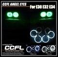 Один Комплект CCFL Огни Автомобиля Для Bmw E30 E32 E34 3 Серии фар CCFL Angel Eyes Гало Кольца Комплекты С 4 Шт. CCFL Ангел Кольца комплекты