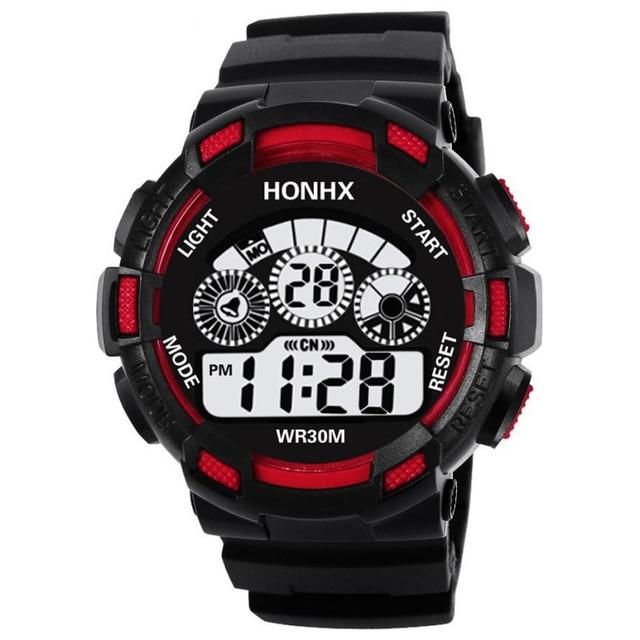 Fashion Children Boy Digital Watch LED Sport Watches Kids Silicone Strap Alarm D