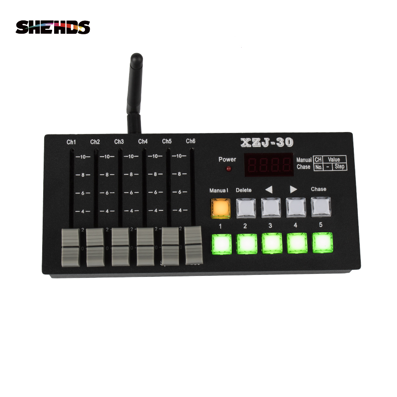 SHEHDS Charging Wireless 30 DMX Signal Transmitter Controller Stage Lighting Console DJ Equipment For Par Moving Head Control