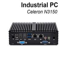 X86 mini pc celeron n3150 низкое энергопотребление безвентиляторный настольный компьютер windows 10 linux брандмауэр, pc маршрутизатор промышленного мини-компьютер