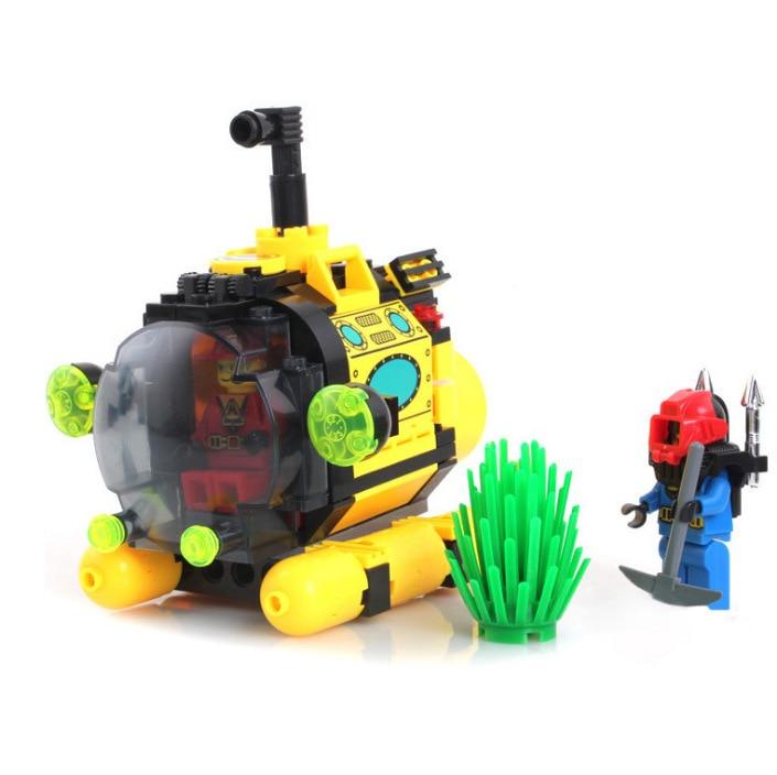 Enlighten Models Building toy Compatible with Lego E1213 122pcs Submarine Blocks Toys Hobbies For Boys Girls Model Building Kits все цены