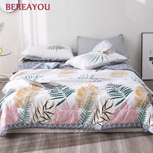 Summer Cotton Quilts With Sleeves Flamingo Leaves Blanket Korean Air Condition Comforter Adult Kids Bedspread Bed Cover Bedding
