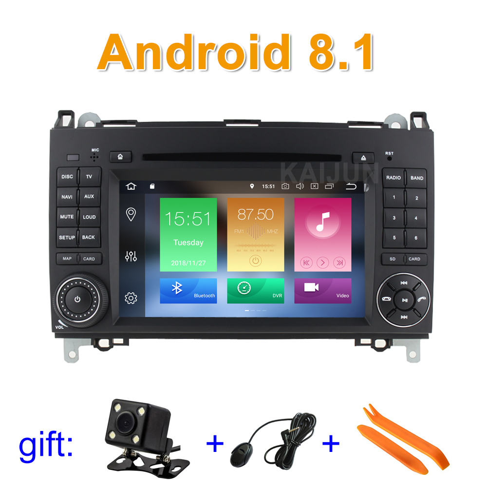 Android 8.1 Car DVD Player Radio GPS for Mercedes/Benz Vito Viano Sprinter W209 W169 W169 B200 VW Crafter with WiFi BT