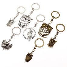 Retro Owl Keychain Key Chain Ring Christian Car Accessories Handmade Souvenir Gift For Girls