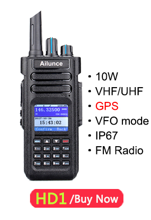 Retevis Ailunce HD1 Dual Band DMR Digital Walkie Talkie (GPS