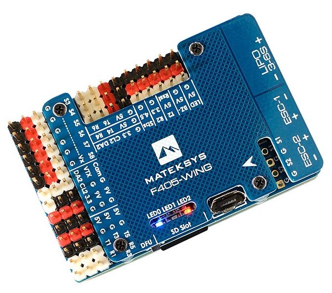Matek MatekSys F405-WING STM32F405 Flight Controller Control With INAVOSD MPU6000 BMP280 /Support Fly Wing Fixed Wing