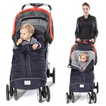 Зимние Детские спальные мешки Детские кокон спальные мешки мягкий теплый конверт для новорожденной коляски спальные мешки с муфтой для коляски