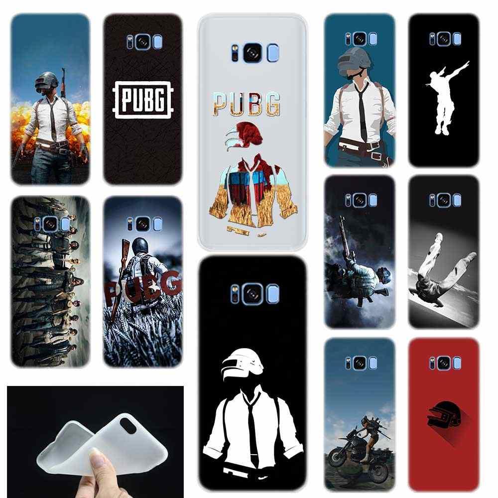 Pubg adesivi mobile Molle Del Silicone di TPU Del Telefono Della Copertura Posteriore di Caso Per Samsung Galaxy S6 S7dge S8 S9 S10 S11 S20 più Nota 8 9 10 pro