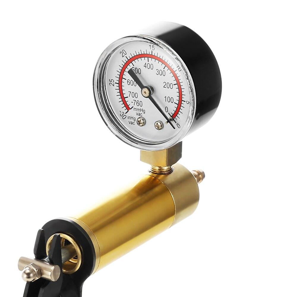 2 In 1 DIY Brake Bleeder And Vacuum Pump Tester Tool Kit Oil Change Fluid Hand Held Pistol Pressure Testers