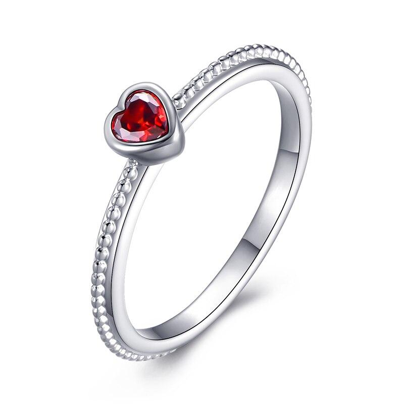 Модное Сверкающее циркониевое серебряное кольцо для женщин, цветочное сердце, корона, кольца на палец, фирменное кольцо, ювелирное изделие, Прямая поставка - Цвет основного камня: 32