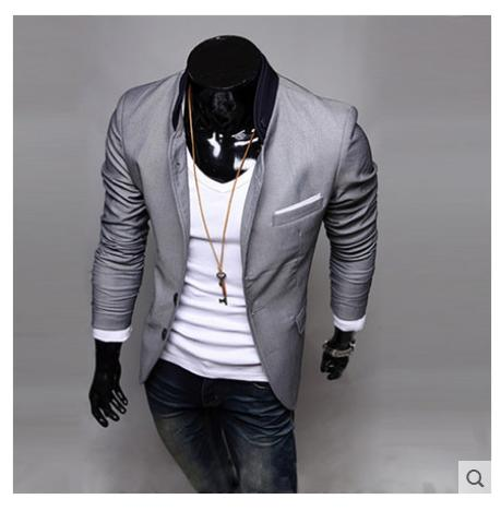 Hot! 2015 Autumn New Men Blazer Fashion Slim casual blazer for Men Brand Mens suit Designer jacket outerwear men M~XXL