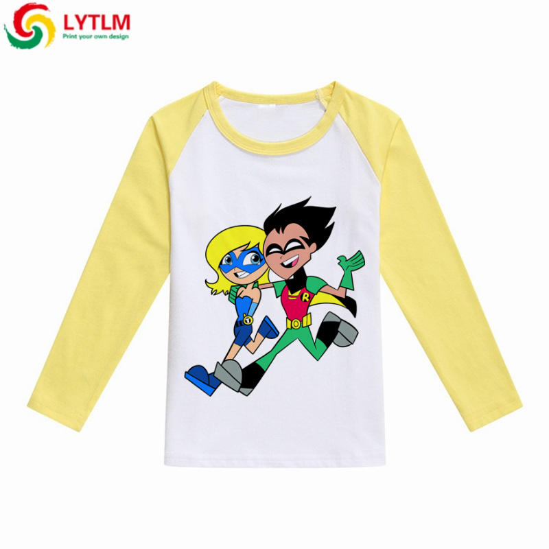 e2f09f1b3 LYTLM Children Clothes Kids Long Sleeve Tshirts Teen Titans Go Shirt Autumn  Fashion Tops 2018 Toddler Boy Full Sleeves T Shirt-in T-Shirts from Mother  ...