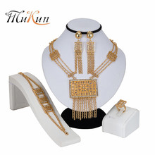 MUKUN Party Jewelry Sets For Women African Beads Jewelry Set Wedding Imitation Crystal Bridal Dubai Necklace Costume Jewelery недорого