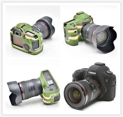 Souple En Silicone En Caoutchouc Caméra De Protection Corps Peau de Cas de Couverture Pour Canon 5D/5D R/5D MarkIII 5D3 Caméra sac
