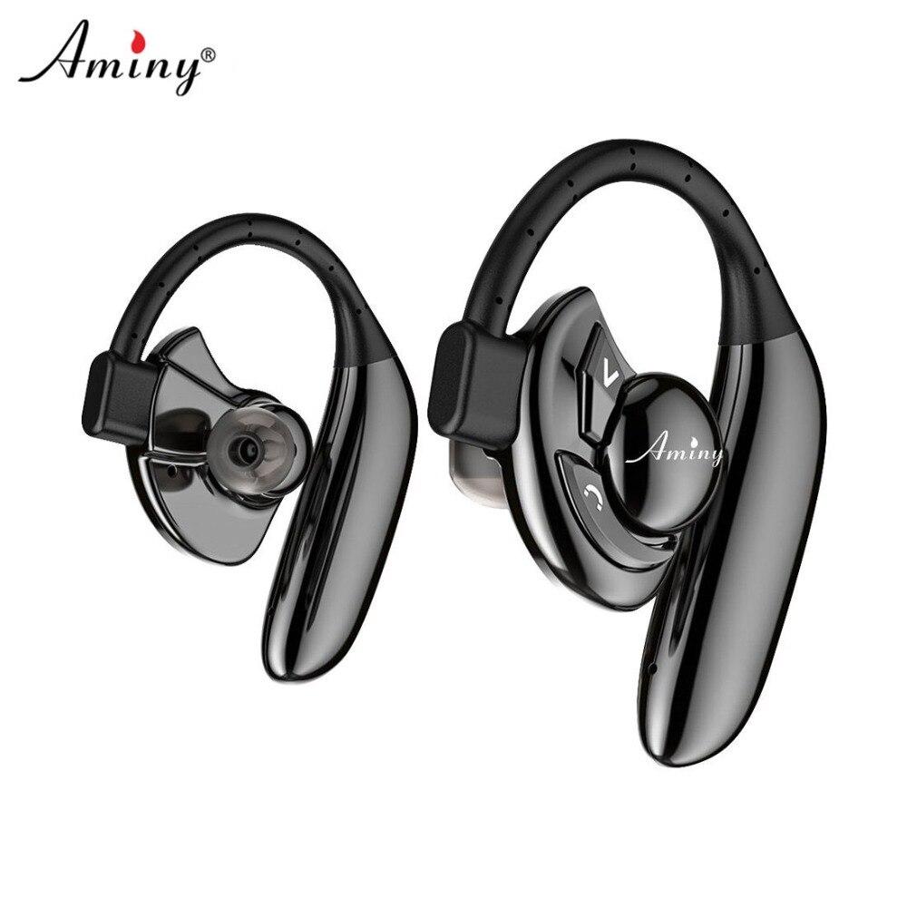 Aminy Deux Sans Fil Écouteurs Bluetooth casque Stéréo Musique Casques Sweatproof Vrai Sans Fil Écouteurs avec Puissant Batterie