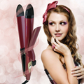2 in 1 30mm Curler & Straightener support beauty hair beauty set Curling Iron Hair Iron Straightening Styling Tools 110V-240V