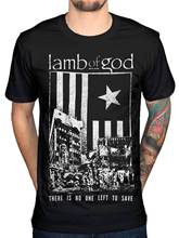 Lamb Of God No One Left To Save T Shirt Pure American Metal Tech Steer New 2018 Fashion Mens T-Shirts