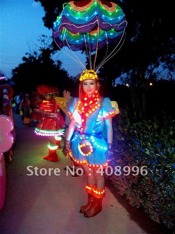 Светодиодный светящийся наряд для выступлений/карнавальное платье/костюм на светильник/серия для парка развлечений 08