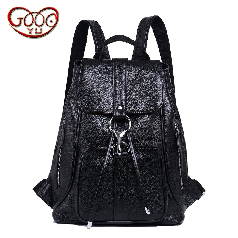 European and American fashion cylinder leather backpack First layer leather women's belt buckle Bucket bag женская рубашка european and american big 1715