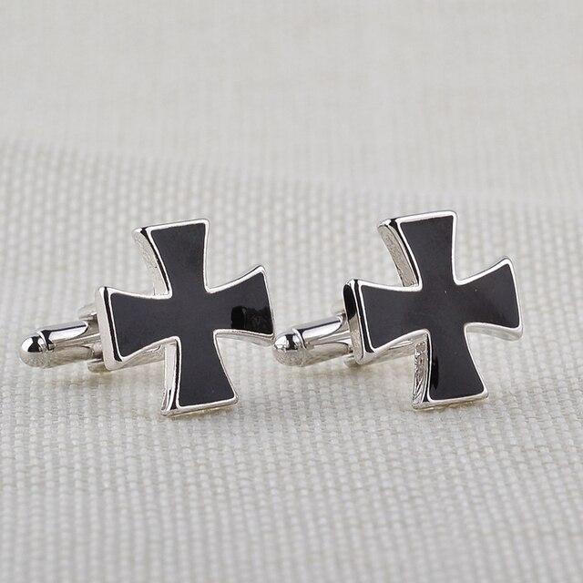Black Cross Shaped Cufflinks