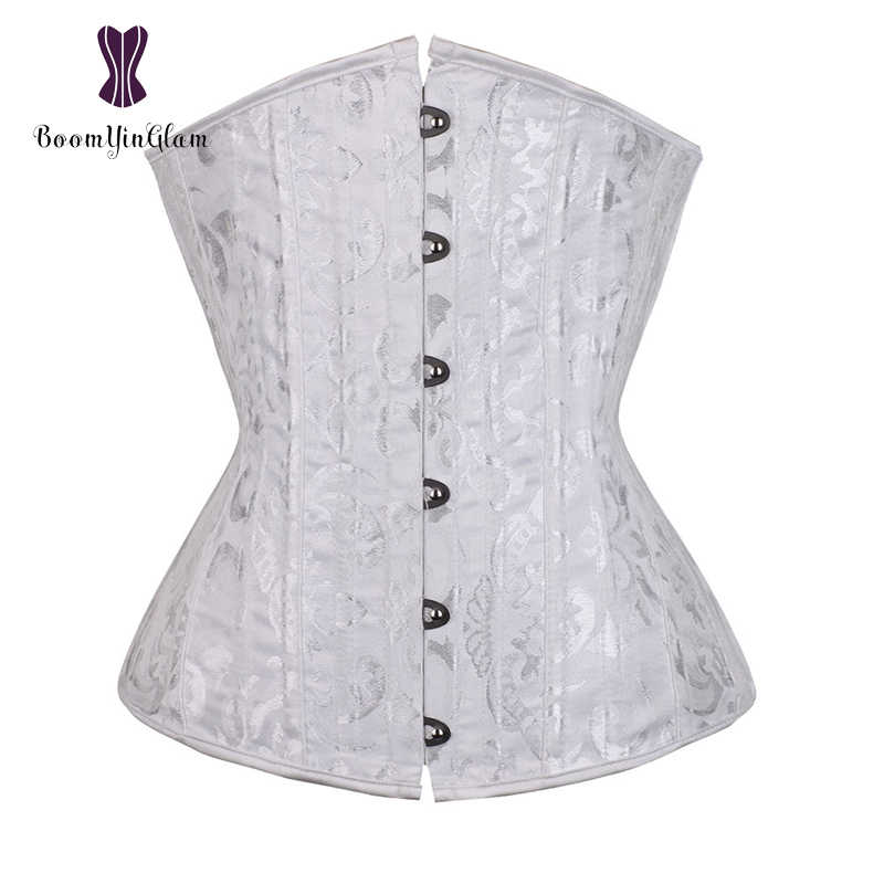 b3193479bb7 jacquard 26 spiral steel boned corset under bust corsets and bustiers tight  lacing corset plus size