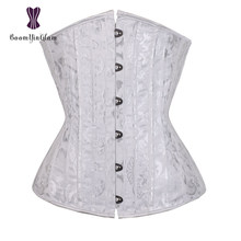 e1bdd515bc jacquard 26 spiral steel boned corset under bust corsets and bustiers tight  lacing corset plus size 3XL-6XL 2834
