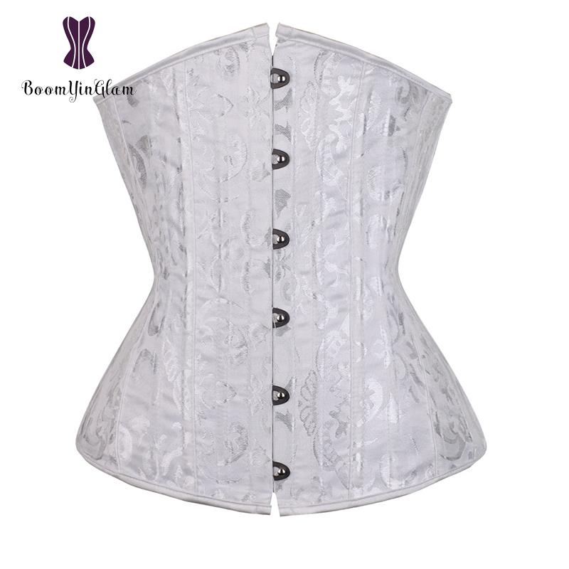 jacquard 26 spiral steel boned   corset   under bust   corsets   and   bustiers   tight lacing   corset   plus size 3XL-6XL 2834#