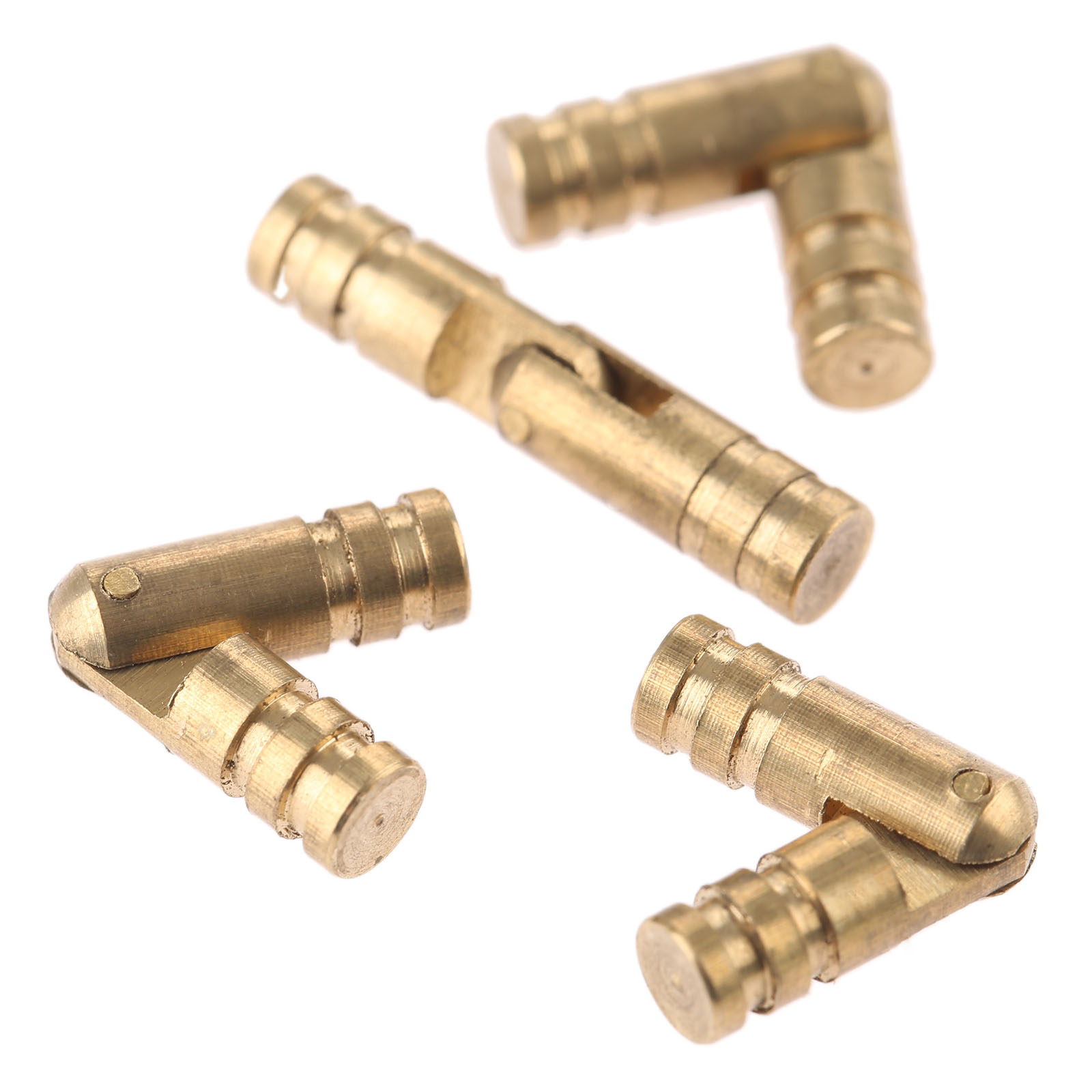4Pcs Pure Copper Brass Barrel Hinges Jewelry Boxes Cabinet Hidden Invisible Concealed Hinge Mount Furniture Hardware 20 4mm in Cabinet Hinges from Home Improvement