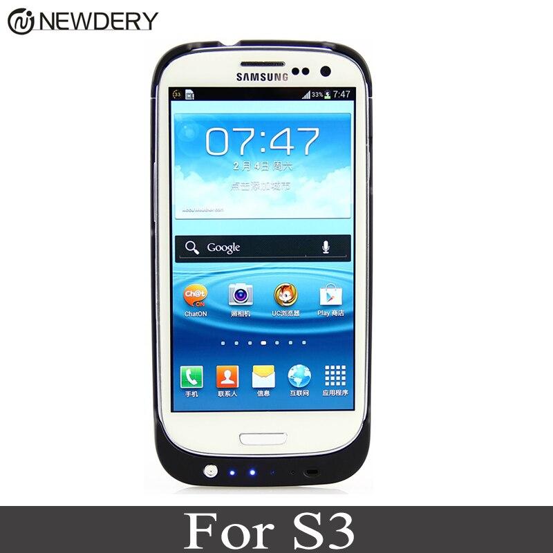 NEWDERY Portable Sauvegarde Externe Cas de Chargeur de Batterie Power Bank Couverture Pour Samsung Galaxy S3 I9300 3200 mAh