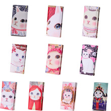 2016 Fashion Women Wallets Leather Cat Printed Clutch Card Holder Coin Purse Wallet Day Clutch Purse Carteira Feminina 10 styles