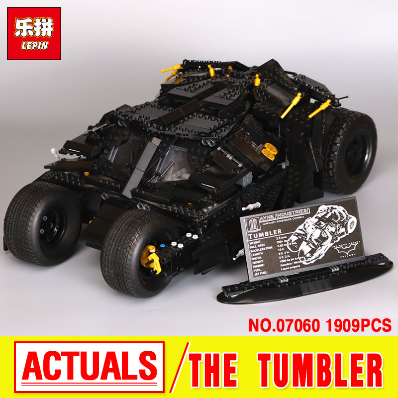 LEPIN 07060 Genuine Super Hero Movie Series The Batman Armored Chariot Set 76023 Educational Building Block Bricks Boy Toys lepin 07060 super series heroes movie the batman armored chariot set diy model batmobile building blocks bricks children toys
