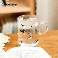 Kawaii Japanese Polar Bear Penguin Mug Cute Animal Heat Resistant Glass Coffee Cup Tea Cup Zakka