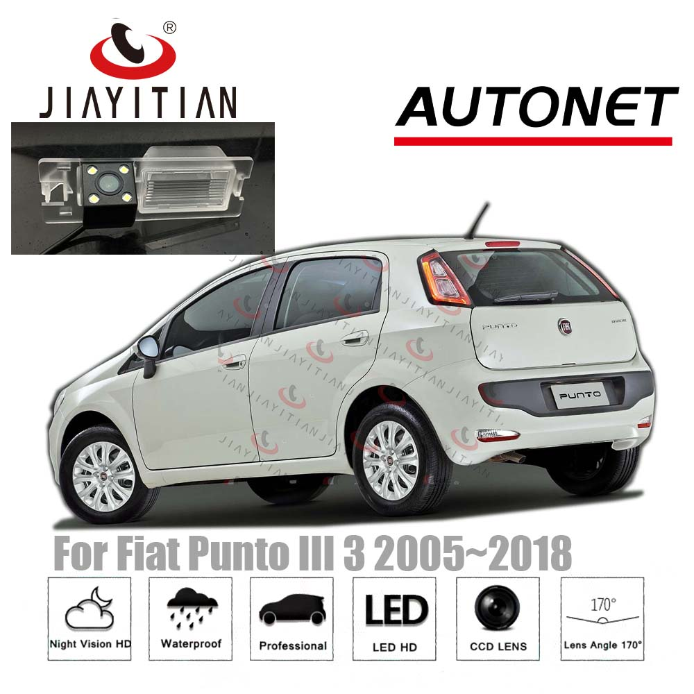 JiaYiTian Car Rear View Camera For Fiat Grande Punto 188 Punto EVO 2005~2018 Reverse Camera Backup License Plate Camera CCD CAM
