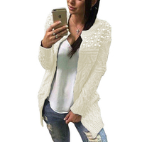 Winter Candy Color Sweaters for Women Fashion New Sexy Beading Cardigans Casual V neck Knitwear Knitted Coat 4 Color