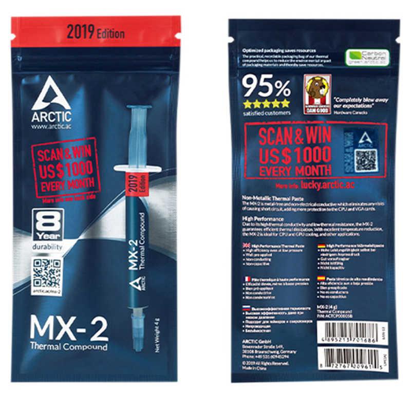 Arctic MX-2 4g para amd processador intel cpu cooler ventilador de refrigeração térmica graxa vga dissipador calor condutor gesso para pc xbox 360 ps3
