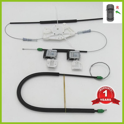 For VW Beetle 1999 2000 2001 2002 2003 2004 2005 2006 2007 2008 2009 2010 Electric Window Regulator Repair Kit Front Right Side