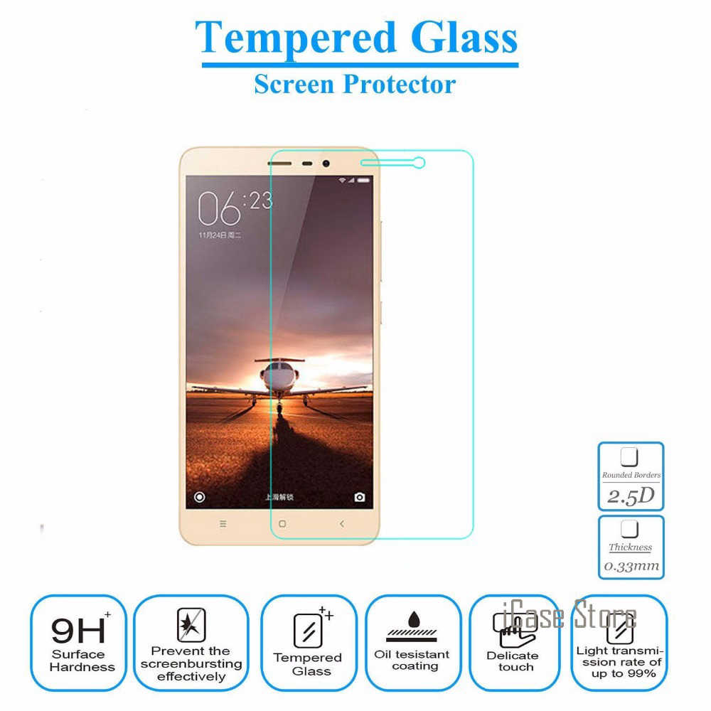 Tempered Glass Film For Xiaomi Redmi Note 3 Pro / Note3 Screen Protector Protective Film + Clean Kits