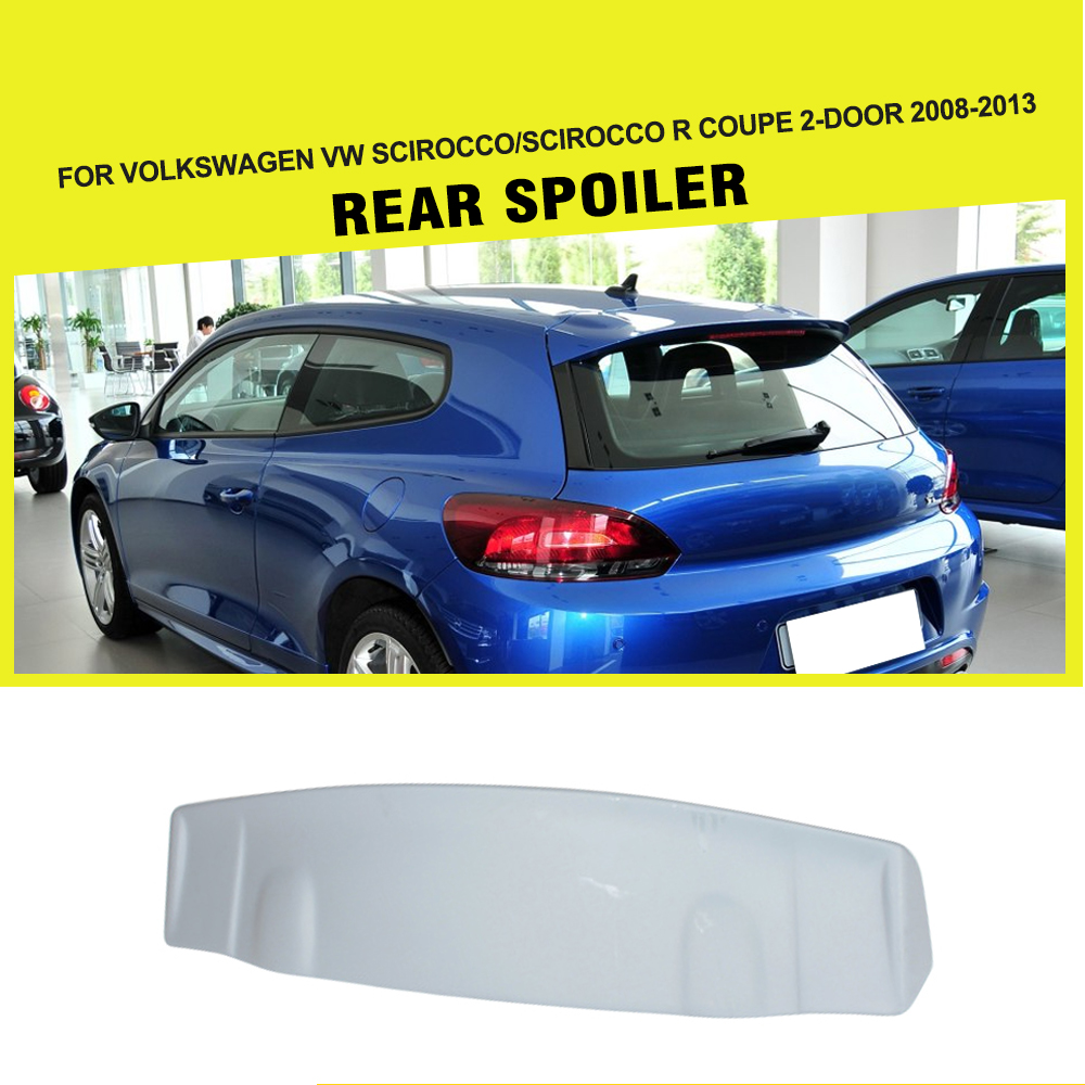 FRP Unpainted Car Rear Roof Spoiler Wing for Volkswagen VW Scirocco / R 2008-2013