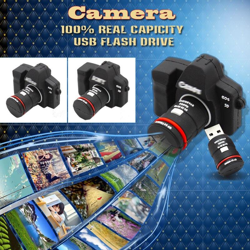 Camera Shape USB Flash drive memory pendrive stick 32GB/4GB/8GB/16GB USB Flash Pen Drive Download Memory Stick Thumb Camera gift creative slr camera style usb 2 0 flash drive black 32gb