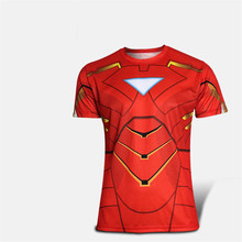 In 2015 the new iron man brand knights that short sleeve T-shirt in Europe and the United States fashion leisure fashion T-shirt